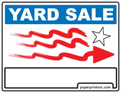 400x308 Yard Sale Signs