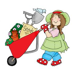 236x228 Girl Gardening Clipart