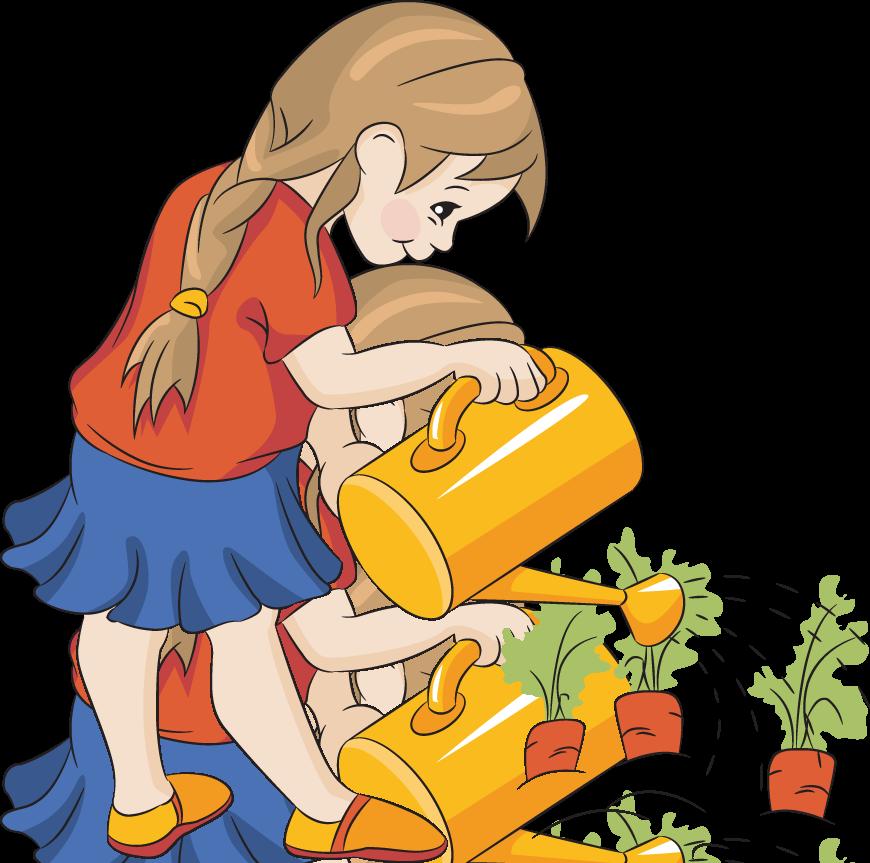 870x863 Children In The Garden Clipart