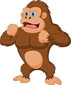 142x170 Clip Art Of Gorilla Cartoon K15822316