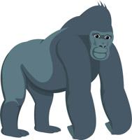 189x200 Free Gorilla Clipart
