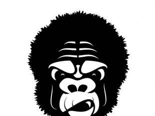 310x233 Gorilla Mascot Vector Clip Art.ai Free Vectors Ui Download