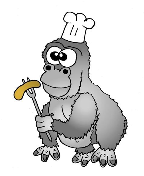 477x581 Gorilla Chef Clipart