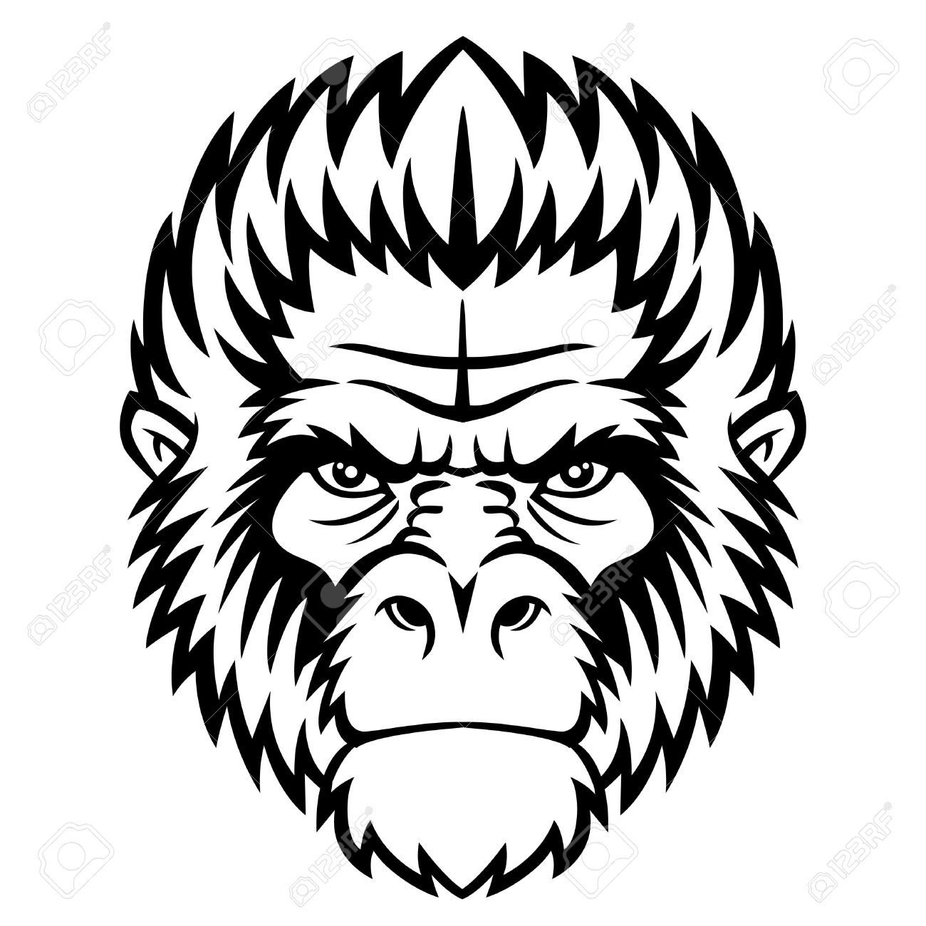 1300x1300 Gorilla Clipart Face Amp Gorilla Clip Art Face Images