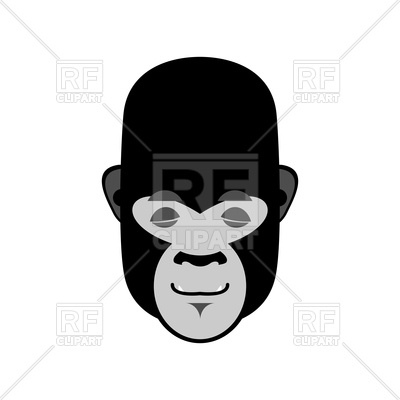 400x400 Gorilla Sleeping Emoji Royalty Free Vector Clip Art Image