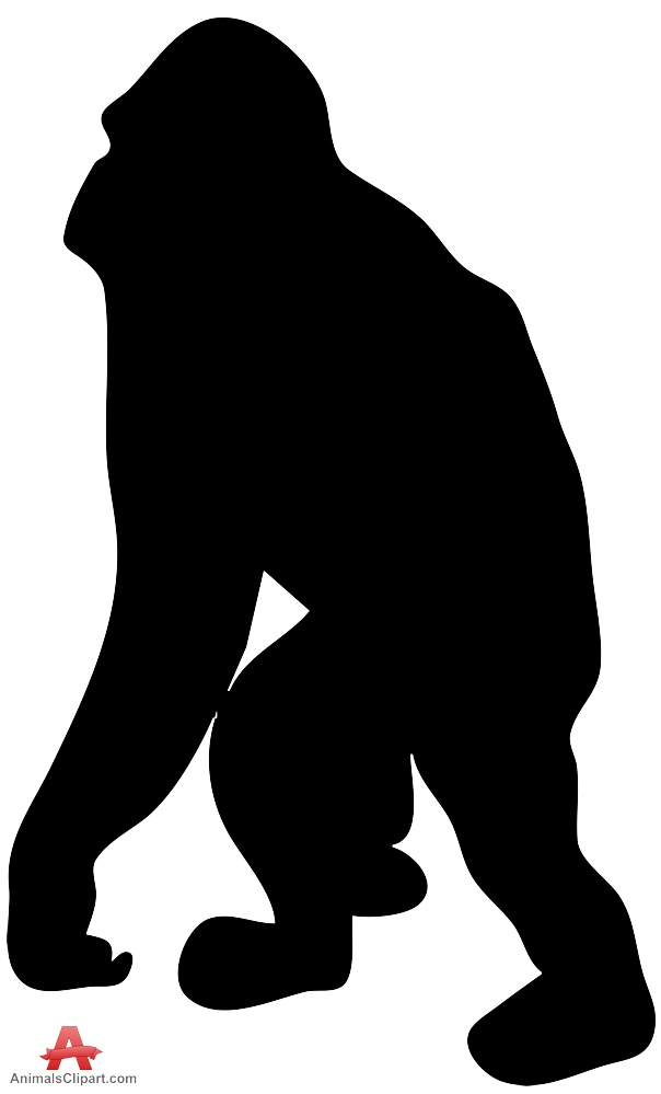 604x999 Large Gorilla Silhouette Clipart Free Clipart Design Download