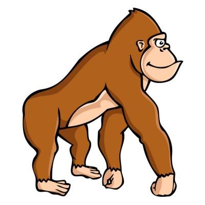 400x400 Bampw Clipart Gorilla
