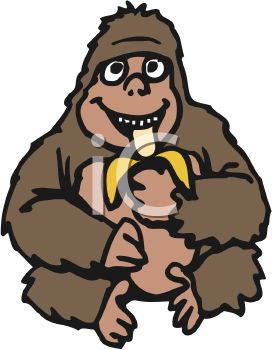 272x350 Banana Gorilla Clipart, Explore Pictures