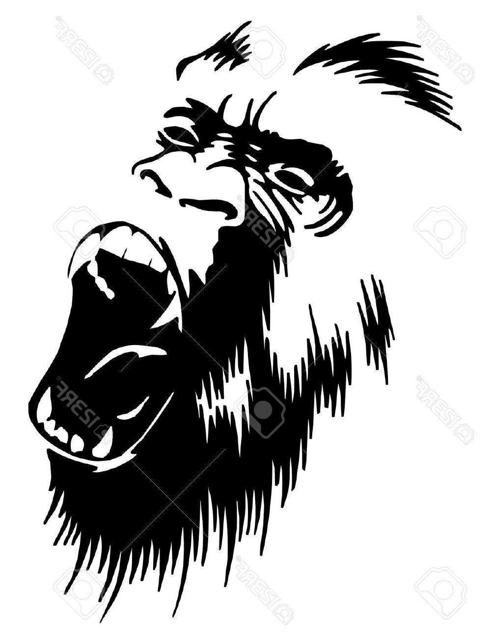 1004x1300 Unique Gorilla Roar Vector Image Free Vector Art, Images