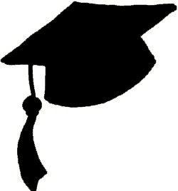 250x268 Graduation Hats Clip Art