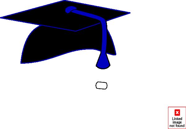600x417 Black Graduation Cap Blue Tassel Clip Art