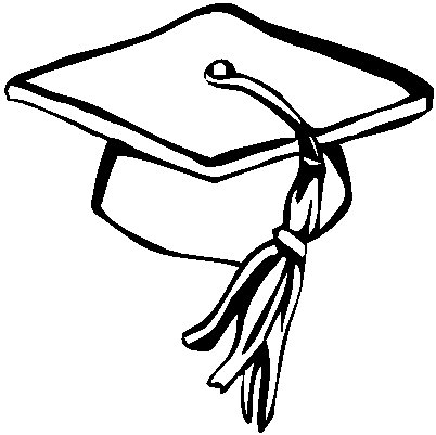 402x401 Graduation Hat Flying Graduation Caps Clip Art Cap Line 15