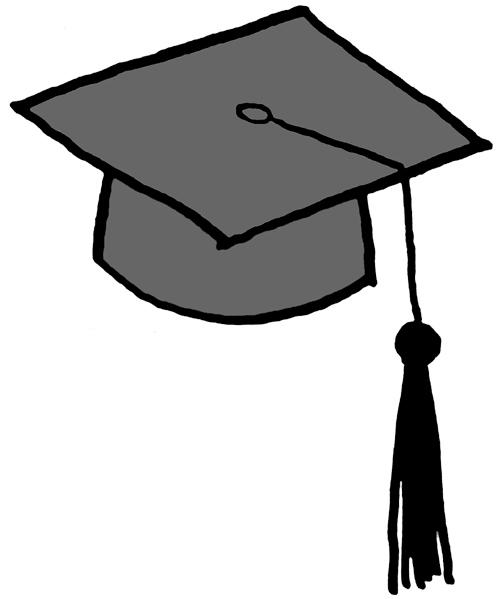 500x599 Graduation Hat Flying Graduation Caps Clip Art Graduation Cap Line