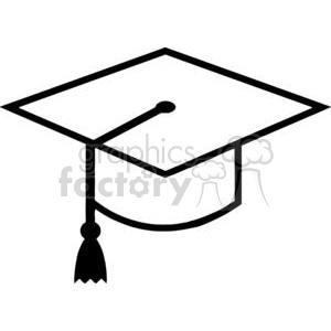 300x300 Royalty Free 2376 Royalty Free Mortar Board Graduation Cap 379943