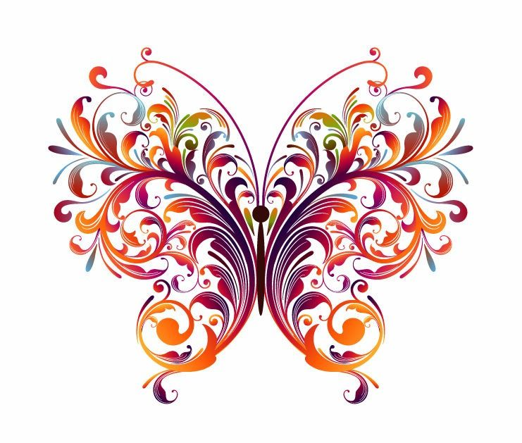 741x629 Abstract Designs To Draw Abstract Floral Butterfly Vector