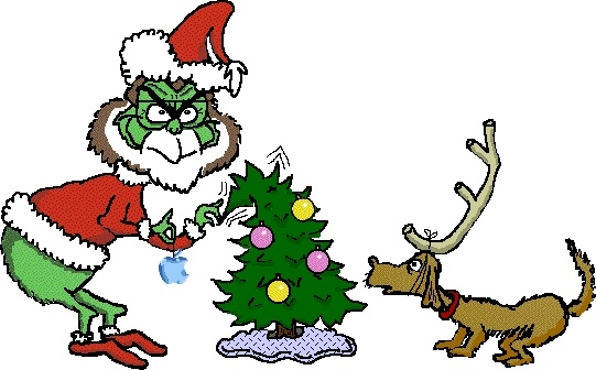 541x336 Free Clipart Christmas Tree Grinch