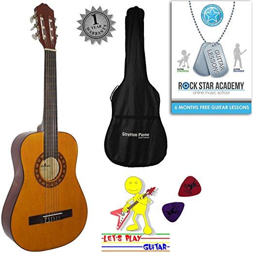 522x522 Acoustic Guitar Package 12 Sized (34' Inch) Classical Nylon