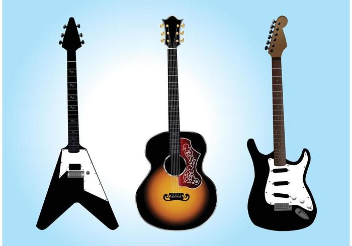 700x490 Free Guitar Vector Graphics