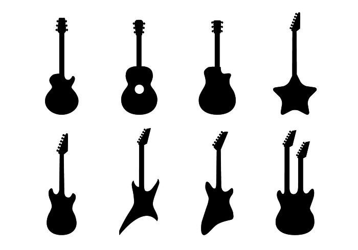 700x490 Guitar Free Vector Art