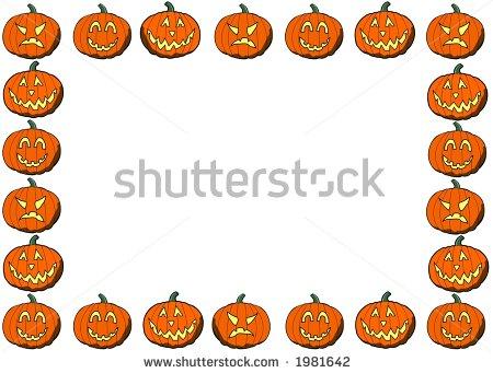 450x341 Halloween Pumpkin Border Clipart