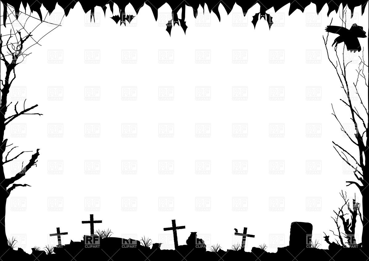 1200x849 Halloween Border With Graves Royalty Free Vector Clip Art Image