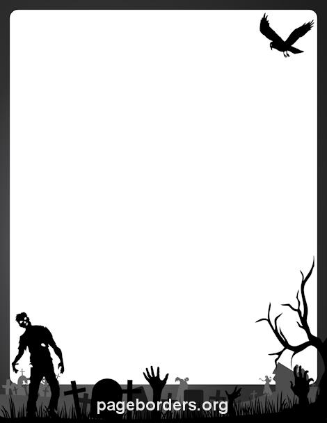 470x608 Printable Happy Halloween Border. Use The Border In Microsoft Word