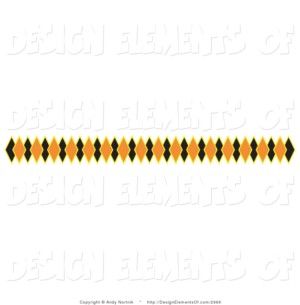 1024x1044 Vector Illustration Of A Halloween Border Of Black And Orange
