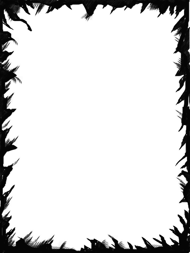 767x1023 Spooky Clipart Border