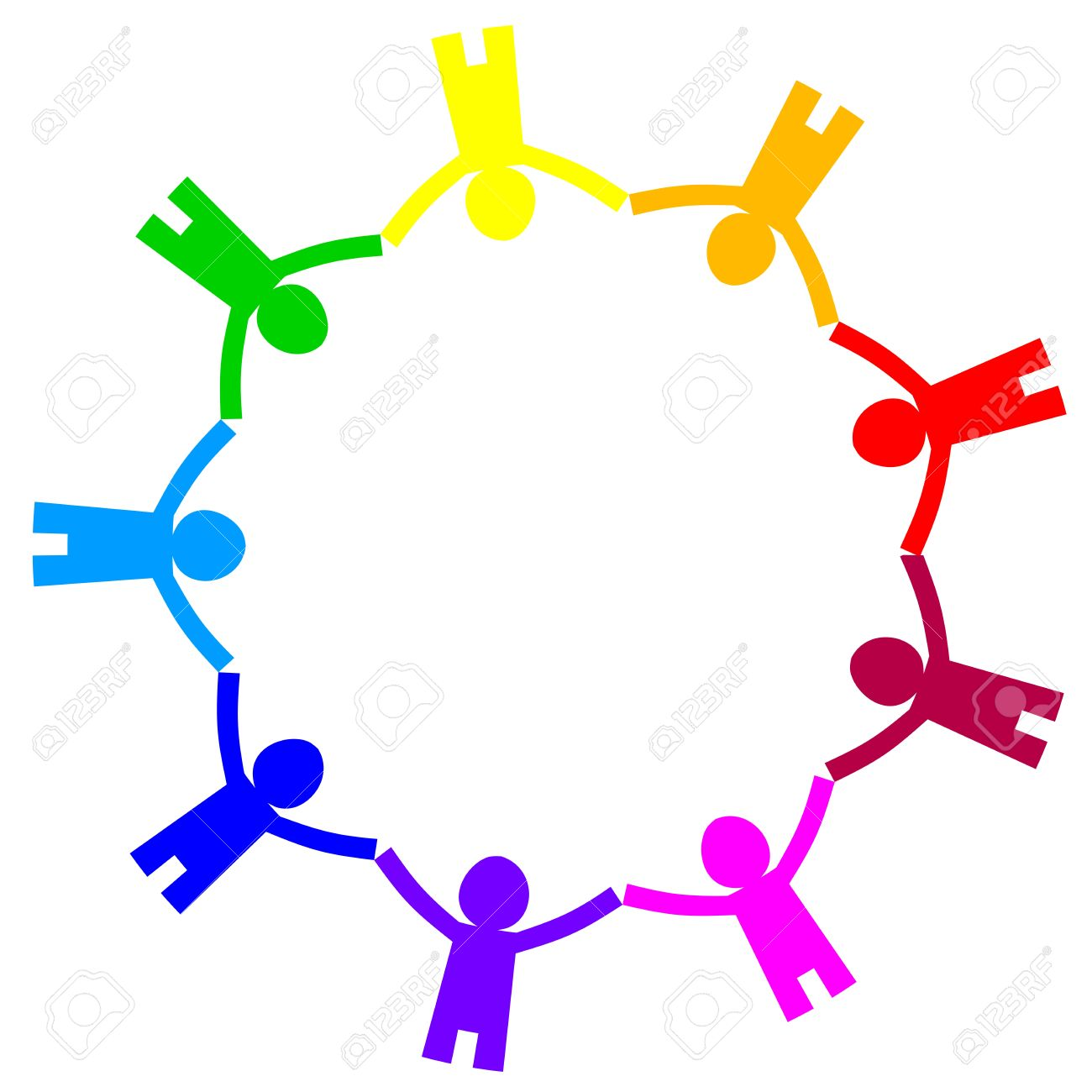 1300x1300 Free Teamwork Clip Art Of A Circle Of Diverse People Holding Hand