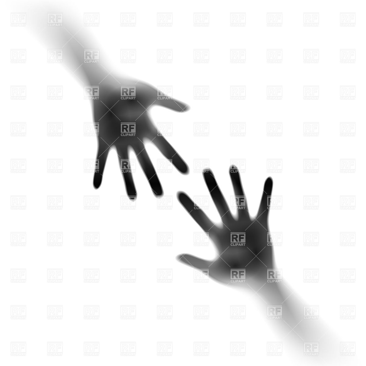 1200x1200 Two Open Hands In The Mist Royalty Free Vector Clip Art Image