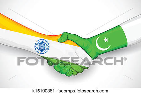 450x301 Clipart Of Handshake Between India And Pakistan K15100361