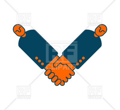 400x368 Contract Icon. Negotiation Concept. Royalty Free Vector Clip Art