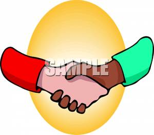 300x263 Free Clipart Image Two Hands Coming Together For A Professional
