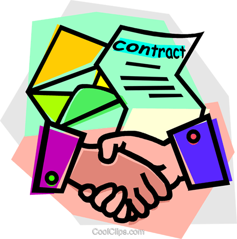 476x480 Handshake After Signing A Contract Royalty Free Vector Clip Art