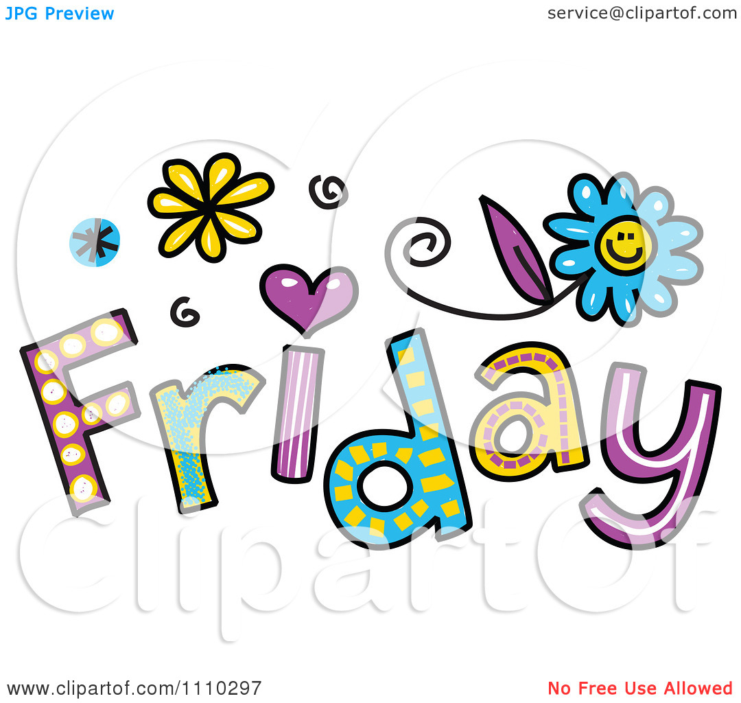 friday happy clipart colorful text prawny sketched illustration vector royalty snoopy monday background clipartmag
