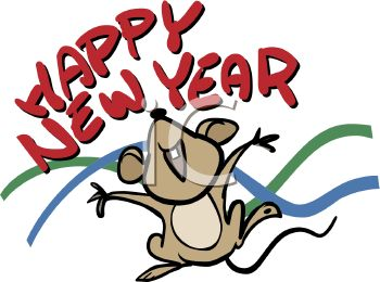 350x260 Royalty Free Clip Art Image Happy New Year Mouse