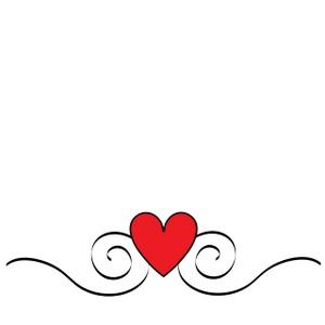 300x300 Heart Swirl Border Clipart