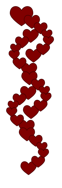 200x600 Heart Clipart Border