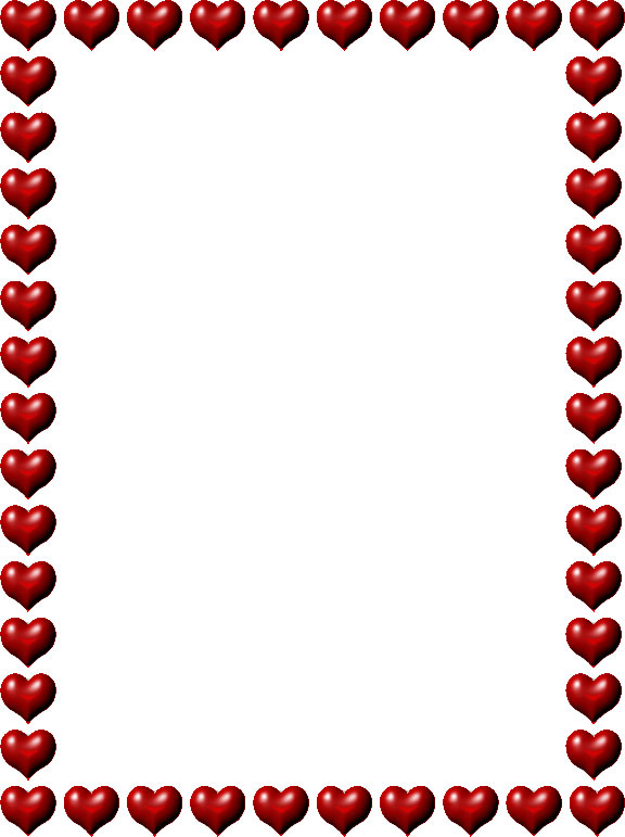 576x771 Red Heart Borders Clipart