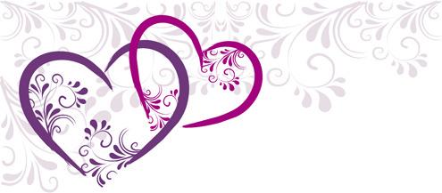 495x217 Elegant Heart Border Free Vector Download (11,559 Free Vector)