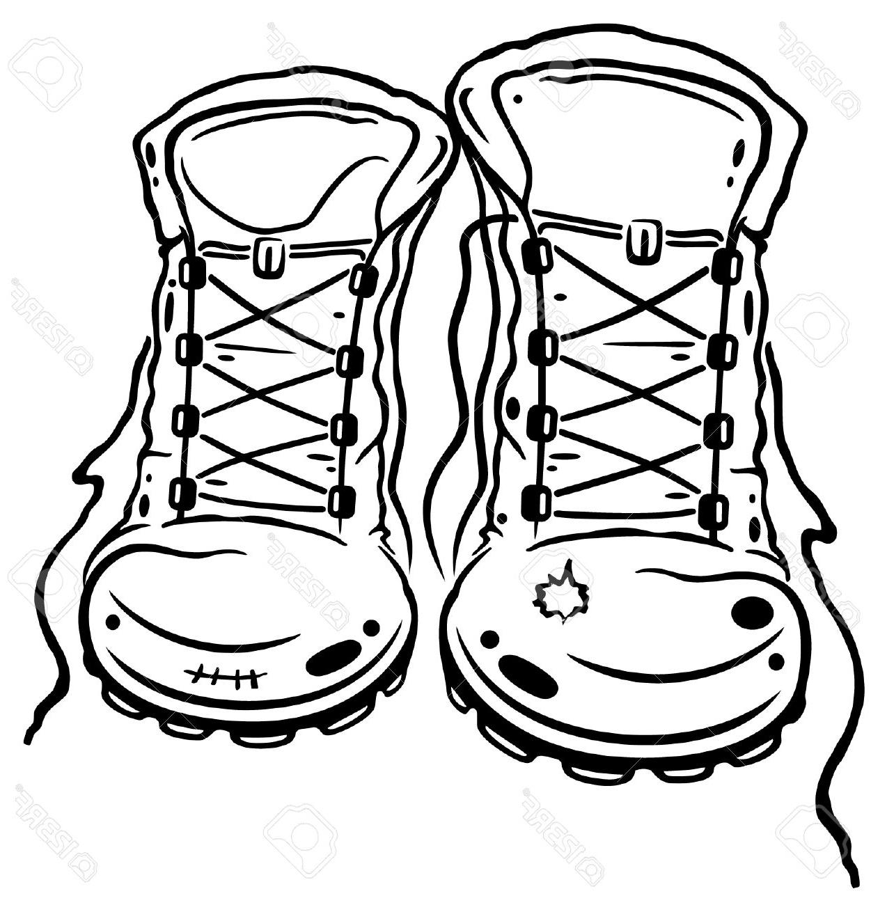 1274x1300 Best Free Boots Clipart Hiking Black And Pictures