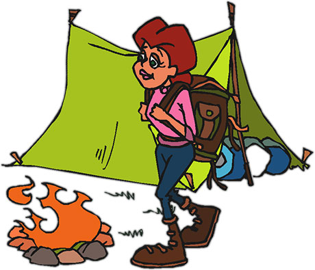 460x395 Camping Clipart Hiker