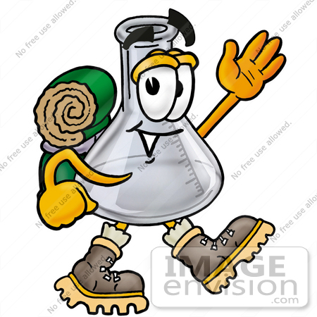 450x450 Clip Art Graphic Of A Laboratory Flask Beaker Cartoon Character