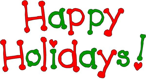 600x324 Free Happy Holidays Clip Art