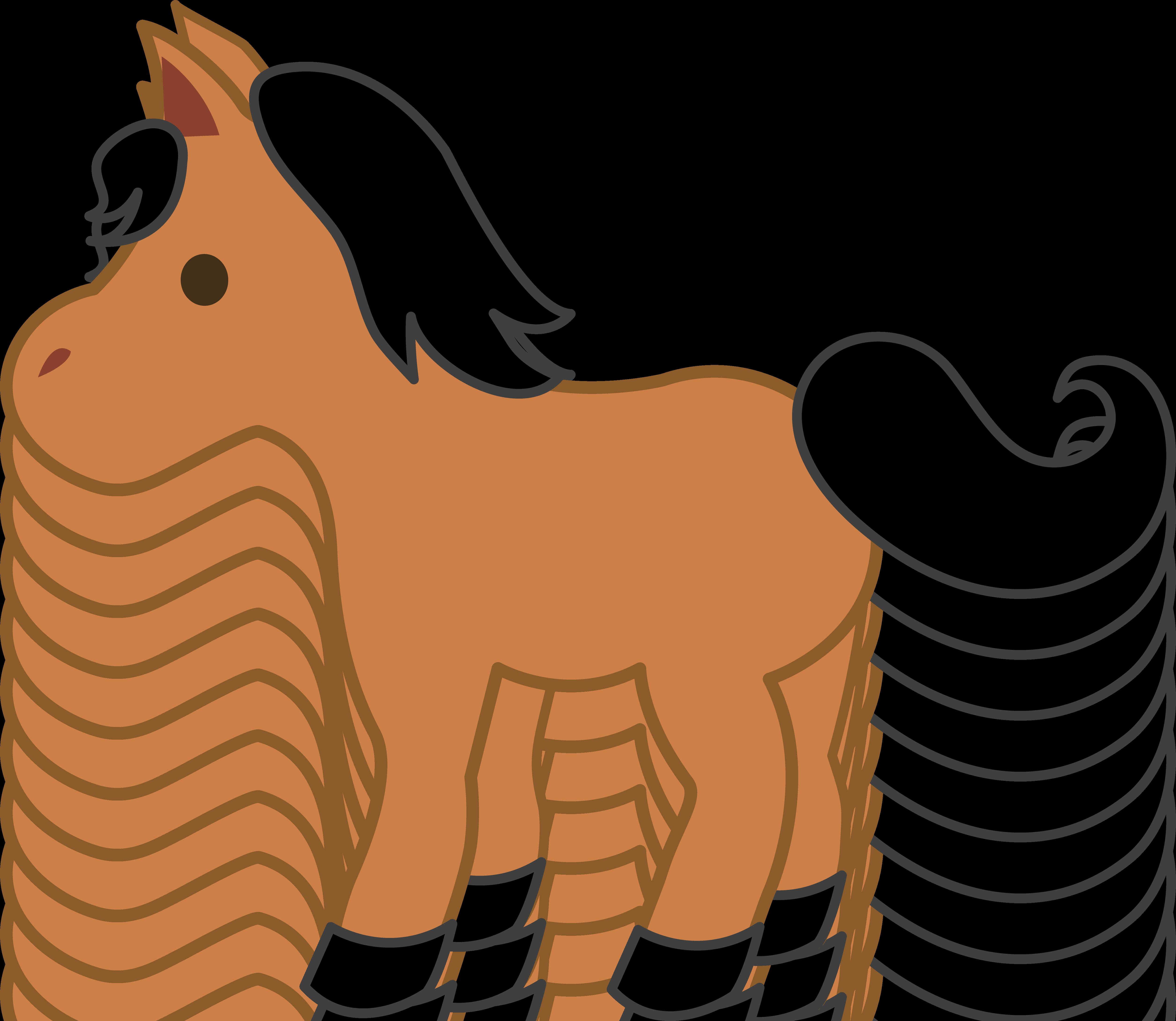 5024x4362 Cute Brown Pony Clip Art