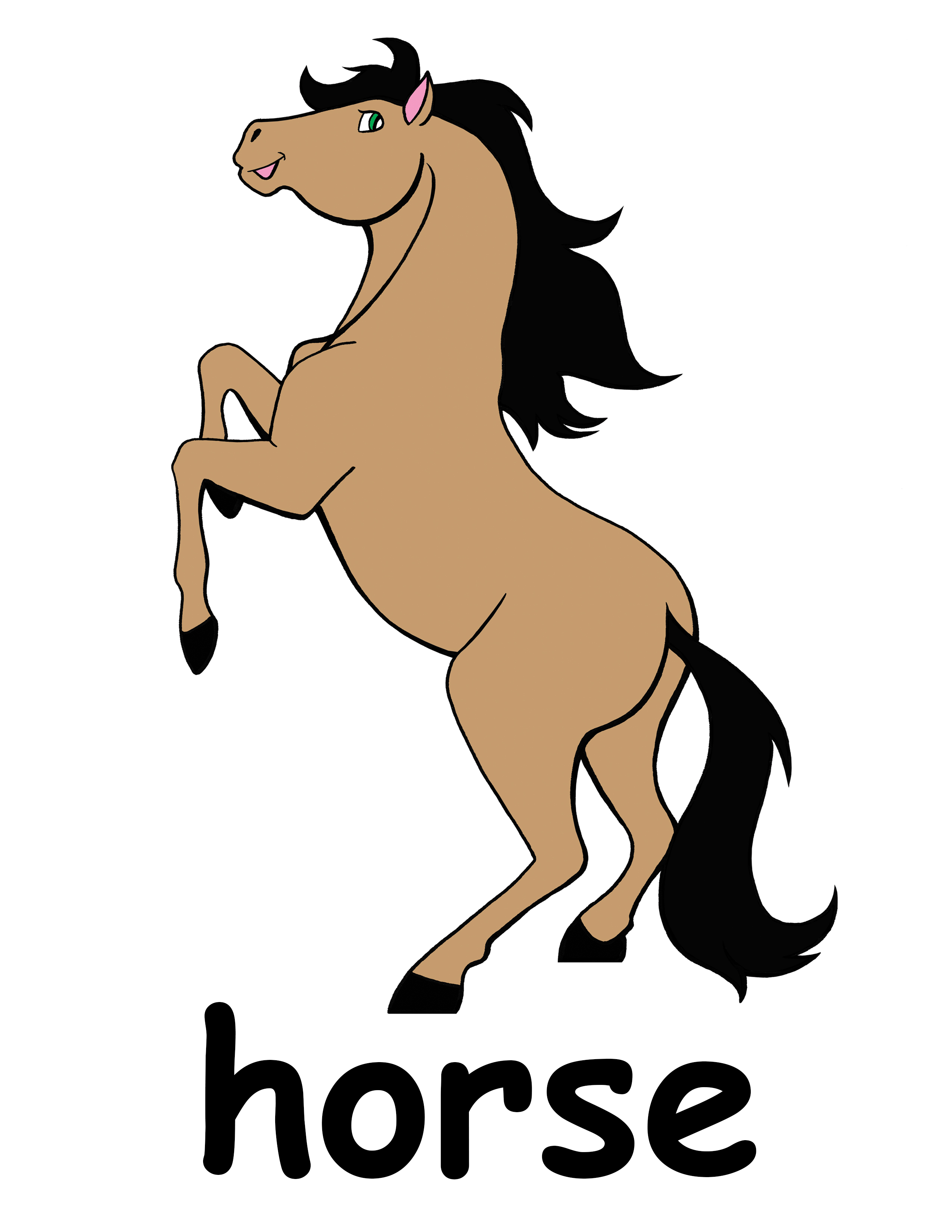 2550x3300 Cute Horse Head Clip Art Free Clipart Images