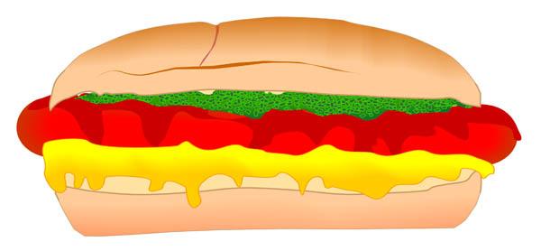 600x278 Hot Dog Hot Clip Art Dog Juliane Krug
