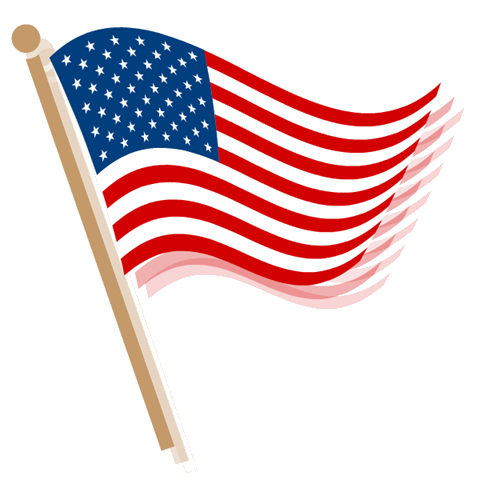 480x480 American Flag Banner Clipart Free Images 3