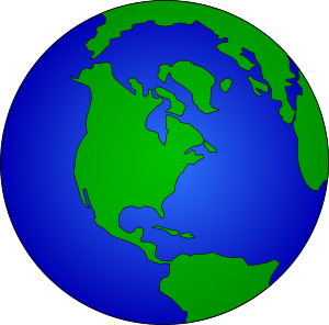 300x296 Earth Clipart Black And White Free Clipart Images