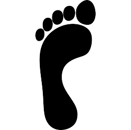 263x262 Footprint Silhouette Template Silhouettes